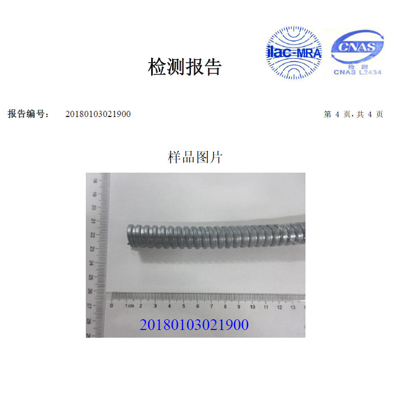 RCCN Metal Hose ROHS Specifications