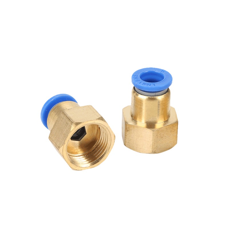 PCF female thread straight-through pipe joint